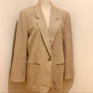 Pendleton Women's Checkered Plaid Blazer Jacket